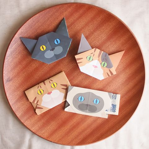Catchy cat Origami can transform into cute DIY gift bags, too!Be Crafty. Be Creative!キャッチ―折り紙はかわいい手作りポチ袋にも変身します。cat #neko #catsofinstagram #origami#cat2see#catlovers#cat_features#catworldwide#excellent_cats#catstagram#nyanstagram#lovemeow#ig_catclub#World_kawaii_cat#instacat_meows#TopCatPhoto#igbest_cats#cutepetclub#igcutest_animals#topcatoftheday#cats_of_world#excellent_kittens#kittens#kitten#lovekittens #kittycat#TheDailyKitten