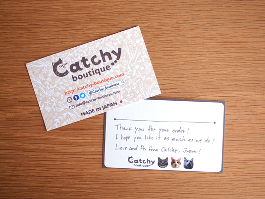 Catchy-boutique card