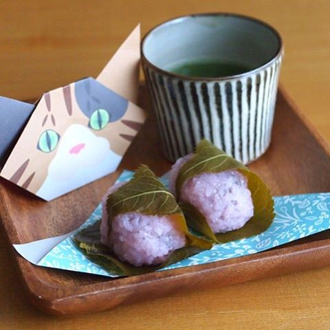 JAPANESE FOOD STYLING FOR SAKURA MOCHI (CHERRY BLOSSOM RICE CAKE) WITH CATCHY CAT ORIGAMI. おりがみで桜餅を食べよう♪#桜餅 #cat #neko #catsofinstagram #origami #cat2see#catlovers#cat_features#catworldwide#tabbycat#excellent_cats#catstagram#nyanstagram#lovemeow#ig_catclub#World_kawaii_cat#instacat_meows#TopCatPhoto#igbest_cats#cutepetclub#igcutest_animals#topcatoftheday#cats_of_world #shopify