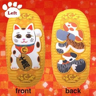 "Do you know that Lucky cat has 2 types, Right or Left paw raised ones?Right raised and Left raised Lucky cat has each different meaning.Left raised is known to bring good encounters with humans (and of course, with animals) for you. On the back of Koban coin, the letter, 大入, which means ""entering more"" in Japanese, created with many different types of cat fur for wishing both humans and cats can meet their ""the perfect match."":日本の招き猫には、どちらの手を上げているかで意味が違うのをご存知ですか?「左手を上げた招き猫→良縁を招く」といわれています。裏面はたくさんの猫達との良縁を願い様々な猫柄で「大入(たくさん入る)」の漢字をデザインしました。:☞Check out ""Catchy-boutique"" in our URL☞Follow: @catchyboutique☞tag: #catchy222 to share your photo with catchy goods:#cat #neko #ねこ #ネコ#cattoy #cattoys #またたび#manekineko #luckycat"